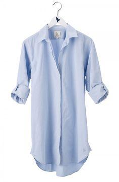 The OVERSIZE SHIRT - Womens shirt - EXTRA LONG SHIRT - Italian Blue - MiH