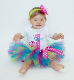 Baby Girl 1st Birthday Outfit - Birthday Tutu - Cupcake Party by ChristiCreations on Etsy