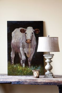 Gershwin & Gertie Farmhouse Kitchen & Decor -Love this cow pic!