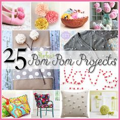 25+Pom+Pom+DIY+Projects+Home+Decor,+Clothes+and+Great+FUN+for+the+kids!