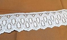 White Lace Trim with Teardrop design  2 Inches   1 yard