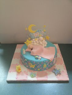 Unisex Baby Shower Cake from Adrian Sullivan's Class