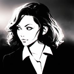 ARTIST SPOTLIGHT: Ilya Kuvshinov. Noire - ❤️ the style of this new #portraitart