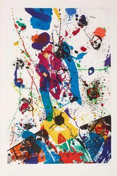 SAM FRANCIS (1923-1994) SANS TITRE, SFE 031, 1985 (Lembark, I 65) Aquatinte en couleurs sur BFK Rives Signée et numérotée CTP III