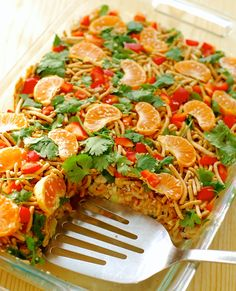 layered asian salad {in a cake pan} | ChinDeep