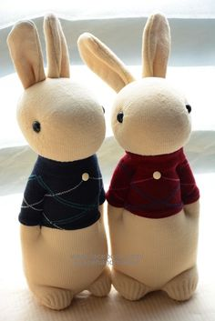 #267 + #268 sock rabbits