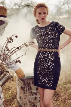 Lasercut Basalt Sheath - anthropologie.com