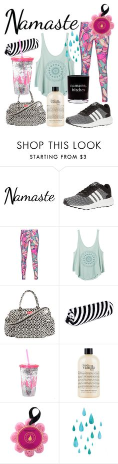 """""""In Yoga we Trust...."""" by aheavingham ❤ liked on Polyvore featuring adidas NEO, adidas Originals, RVCA, The Beach People, philosophy, Spongellé and Damselfly Candles"""