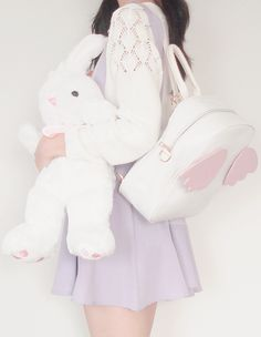 Baby Angel Backpack ♡ Syndrome(Suspender skirt - White knit from Temt)
