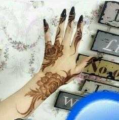 Mehandi and Nails Khafif Mehndi Design, Latest Henna Designs, Floral Henna Designs, Mehndi Designs Book, Finger Henna Designs, Modern Mehndi Designs, Mehndi Designs For Girls, Mehndi Design Pictures, Wedding Mehndi Designs