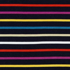 Jersey Stripes Can 3 - Viskose - Elasthan - navy