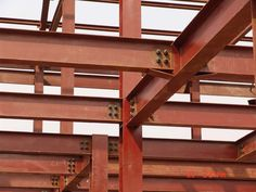 Steel Beam Connection for Workshop picture from Yiwu Yuanbo Steel Structure Co. view photo of Steel Beam House, Standard Steel Workshop, Steel Structure Frame. Steel Trusses, Steel Columns, Timber Beams, Beam Structure, Steel Structure Buildings, Building Structure, Construction Container, Steel Frame Construction, Types Of Steel