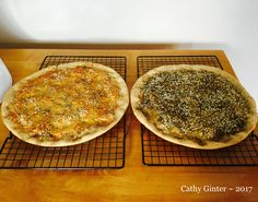 Two kinds of whole grain Herb Flatbread ... just out of the oven ~
