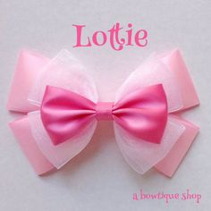 lottie hair bow ($6.70) via Polyvore featuring accessories, hair accessories, hair bows and bow hair accessories