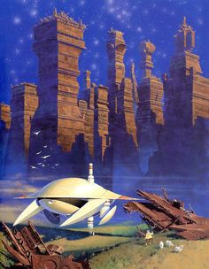 Post with 11674 votes and 310827 views. Shared by Super Dump Of Vintage/Retro Science Fiction Art Arte Sci Fi, Concept Ships, Concept Art, Affiche Star Trek, Art Science Fiction, Trippy, 70s Sci Fi Art, Futuristic City, Fantasy Illustration