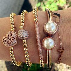 Set By Vila Veloni Rose Gold Bracelet