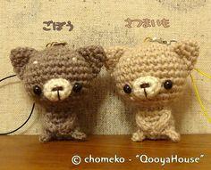 しとにゃんストラップ All Things Cute, Crochet Patterns Amigurumi, Creema, Teddy Bear, Kawaii, Toys, Animals, Key Hangers, Crochet Ornaments
