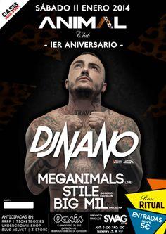 1er Aniversario Animal Club, Con Dj Nano, entre otros, en Oasis Club Teatro. Sábado,11.
