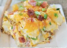 This icious Twice Baked Potato Bacon Casserole is perfect comfort food. Be sure to try the Twice Baked Potatoes and the Potato Bacon Casserole as well!