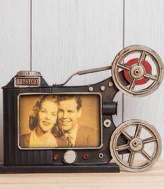 film makinesi retro resim çerçevesi