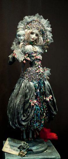 Авторская кукла Милана Шупа-Дуброва #dolls #masks #BJD: