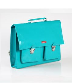 Bakker Made With Love - Vinyl School bag *Blue-Green*
