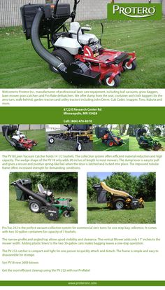 http://www.proteroinc.com | The Pro Vac leaf vacuum systems are designed for best visibility, capacity, material reduction and ease of maintenance. These features make the Pro Vac the best lawn bagger for your lawn mower.