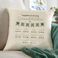 A Grandparents Love Throw Pillow A Personal Creations Exclusive! Grandparents will want to put this pillow in a conspicuous place because it makes such a. Diy Gifts For Mom, Diy Holiday Gifts, Homemade Christmas Gifts, Gifts For Family, Christmas Diy, Baby Gifts, Christmas 2019, Christmas Things, Christmas Projects
