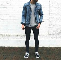 110 best casual shirts for men that look great – page 1 Best Casual Shirts, Best Casual Outfits, Cool Outfits, Stylish Men, Men Casual, Jeans Trend, New Mode, Denim Jacket Men, Men's Denim