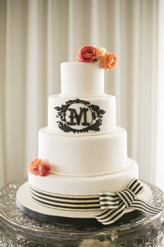New Orleans Inspired Wedding in Houston from Mustard Seed Photography Pretty Cakes, Beautiful Cakes, Amazing Cakes, Corpus Christi, Seersucker Wedding, Elegant Cake Design, Black White Cakes, Wedding Cake Inspiration, Wedding Ideas