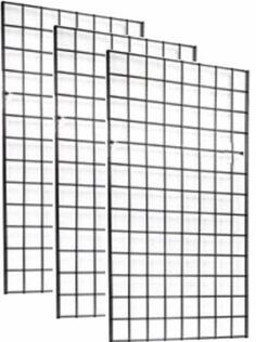 x Foot Commercial Grade Wire Grid Wall Panel Display, ON Center Black Wall Storage, Garage Storage, Wire Grid Wall, Wall Trellis, Garden Trellis, Grid Panel, Courtyard Landscaping, Organizing Wires, Retail Shelving
