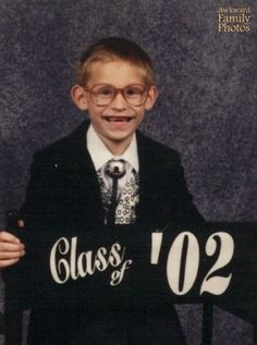 """""""I was in first grade. I thought I looked REALLY spiffy in that black jacket, silk vest, and bolo tie. I didn't realize that I looked like a toothless chimpanzee wearing glasses."""""""