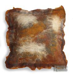 "Pillowcase ""Haze"".                                   Composition: 100% merino wool + calico. Handmade. Technique - nunofelting. Fastening: overlap+cord.  Catalogue 2017 Tumar Art Group"