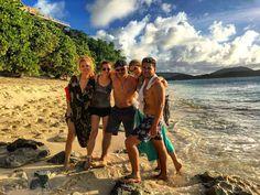 Fun yes with friends #Neckerisland #beach #sunset #sea