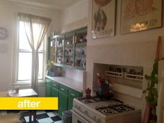 Kitchen Before & After: A Bland, Bare Brooklyn Kitchen Gets Some Personality. Reader Kitchen Remodel.