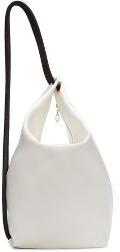 MM6 Maison Margiela - White & Black Leather Rope Backpack