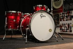 Gretsch Brooklyn Red Oyster Drum Set by Greenbrier Music, via Flickr