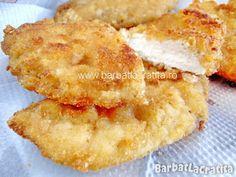 Şniţele cu iaurt (de pui sau porc) Romanian Food, Yummy Food, Tasty, Cooking Recipes, Healthy Recipes, Cordon Bleu, Sweet Tarts, Baking Soda, Macaroni And Cheese