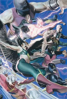 Justice Society of America, by Alex Ross Alex Ross, Comic Book Artists, Comic Artist, Comic Books Art, Superhero Characters, Dc Comics Characters, Arte Dc Comics, Fun Comics, Batman