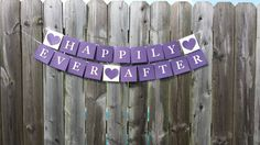 Happily Ever After Bridal Banner Happily Ever by KLundquistDesigns