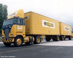 Willig Freight Lines Peterbilt with doubles