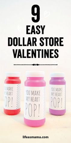 9 Easy Dollar Store Valentines