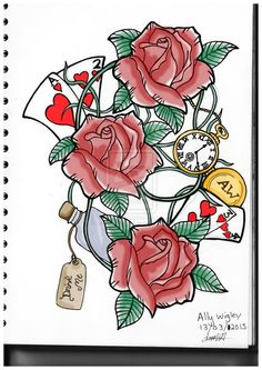 Rose Tattoo Design (Colour) by JackeryNorthall