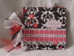"""Beautiful product by Melina Pylant one of our DT members. She is super talented. This is using our February kit from Echo Park """"Love Story"""""""