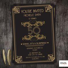 Resultado de imagen para great gatsby quinceanera invitations