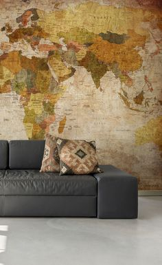 Old Style World Map Wallpaper World Map Wallpaper, Wall Wallpaper, Travel Wallpaper, Smash Book, Cool World Map, Phoenix Homes, Kids Meal Plan, Industrial House, Kids House