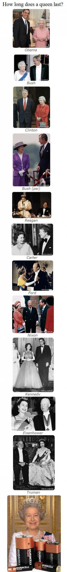 Amazin! 1 queen & 11 presidents & counting......