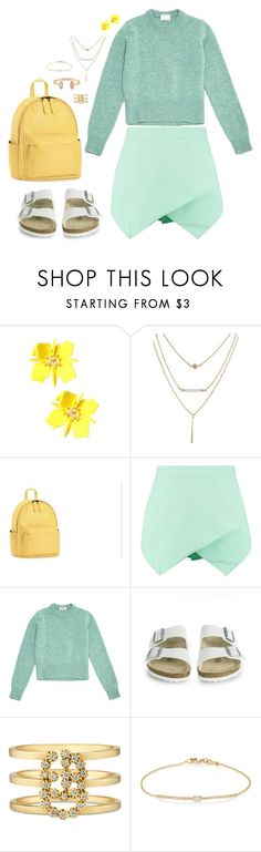 """""""Everything, Everything."""" by walzfashion ❤ liked on Polyvore featuring Acne Studios, Birkenstock, Gucci, Tate and Kendra Scott"""