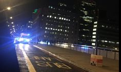 The men, 'of Mediterranean origin', reportedly drove the van at 50mph across the bridge, then began 'randomly stabbing people' along Borough High Street