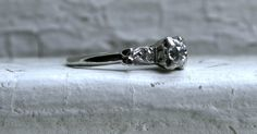 Sweet Art Deco Vintage 14K White Gold Diamond by GoldAdore on Etsy